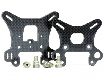 RC8B3 Carbon Shock Towers | Set