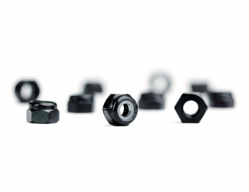 M3 Black Aluminum Locknut | 10 Pack