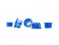 M4 Flanged Blue Aluminum Locknut | 5 Pack